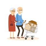 Pensionärpar som köper ett hem Royaltyfri Bild