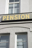 Pension Stock Image