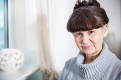 Pension age good looking woman Stock Photo
