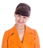 Pension age good looking woman portrait in the City, London Royalty Free Stock Image