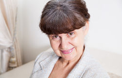 Pension age good looking woman portrait Stock Image