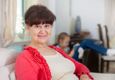 Pension age good looking woman portrait Royalty Free Stock Photo