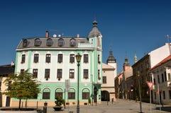 Pension au centre de Hranice - République Tchèque photographie stock libre de droits