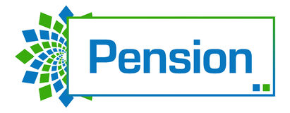 Pension Blue Green Circular Bar Royalty Free Stock Photos