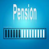 Pension blue loading bar Stock Photo