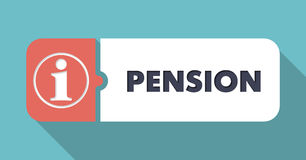 Pension Concept in Flat Design. Stock Photography