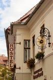 Pension dans la ville de Sibiu Image libre de droits