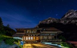 Pension de montagne Photo libre de droits
