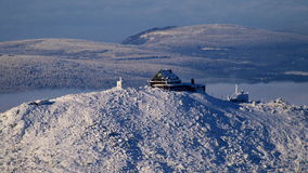 Pension de montagne de Szrenica en montagnes géantes/Karkonosze Images stock