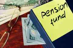 Pension fund concept. Stock Images