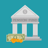 Pension funding graphic Royalty Free Stock Photo