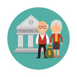 Pension funding graphic Stock Photos
