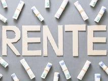 Pension (german) Stock Image