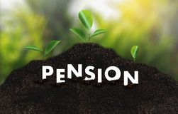 Pension money savings financial concept and retirement and peopl. E Investment growing Stock Images