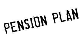 Pension Plan rubber stamp Royalty Free Stock Image