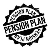 Pension Plan rubber stamp Royalty Free Stock Images