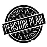 Pension Plan rubber stamp Stock Image