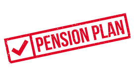 Pension Plan rubber stamp Stock Photos
