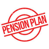 Pension Plan rubber stamp Royalty Free Stock Photo