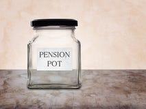 Pension pot empty. Financial concept. Stock Photos