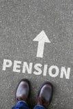 Pension retirement business concept Stock Images