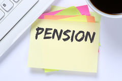 Pension retirement business desk Royalty Free Stock Images