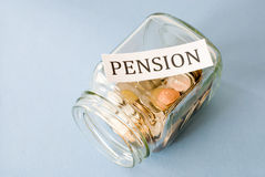 Pension savings Stock Photography