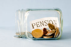 Pension savings Stock Images
