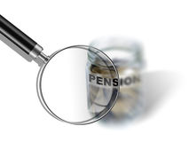 Pension  savings money in jar Stock Photography