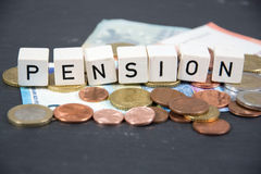 Pension. A symbol photo for pension royalty free stock images