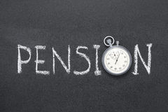 Pension Royalty Free Stock Image
