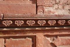 Pensionair van het tempel de Snijdende Detail royalty-vrije stock foto's