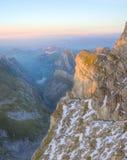 Pensione alla montagna Saentis, Svizzera Fotografie Stock
