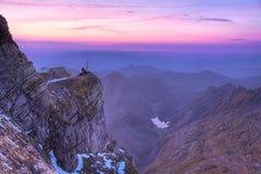 Pensione alla montagna Saentis, Svizzera Immagine Stock