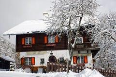 Pensione alpina Fotografie Stock Libere da Diritti