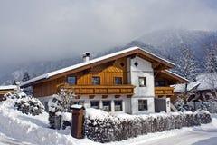 Pensione alpina Fotografie Stock