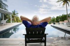 pensione felice Fotografia Stock Libera da Diritti