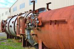 Pensionerad sågverkutrustning Royaltyfri Bild