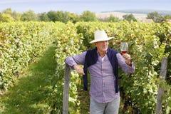 Pensionerad vinproducent Royaltyfria Bilder