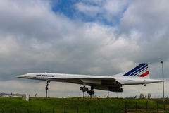 Pensionerade Concorde Arkivbild