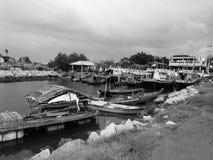 Pensionerade fiskebåtar Arkivfoto