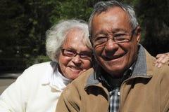 Pensionerade pensionärer Fotografering för Bildbyråer