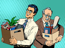 Pensionerat affärsidéjobbsökande och avskedande royaltyfri illustrationer