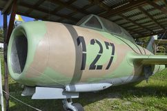 Pensionerat flygplan för militär MiG-15 Royaltyfri Fotografi
