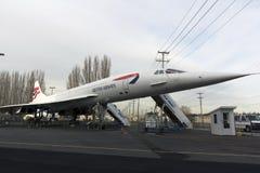 pensionerat supersonic för flygplanpassagerare royaltyfria foton