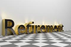 Pensionering die teruggegeven illustratie verwoorden Royalty-vrije Stock Foto's