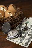 Pensionering en Financiële planning royalty-vrije stock fotografie