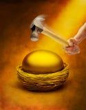 pensionering för ägggfcrede Arkivbild