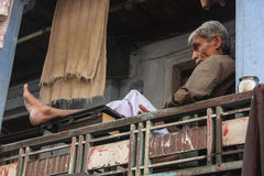 Pensionering leven-India royalty-vrije stock foto