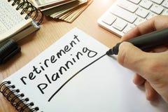 Pensionering Planning royalty-vrije stock afbeelding